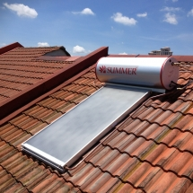 Summer Solar Water Heater CX180 install at Kota Damansara